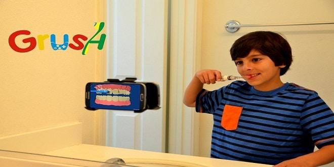 فرشاة أسنان تشجع الأطفال على استخدامها عن طريق ألعاب الفيديو